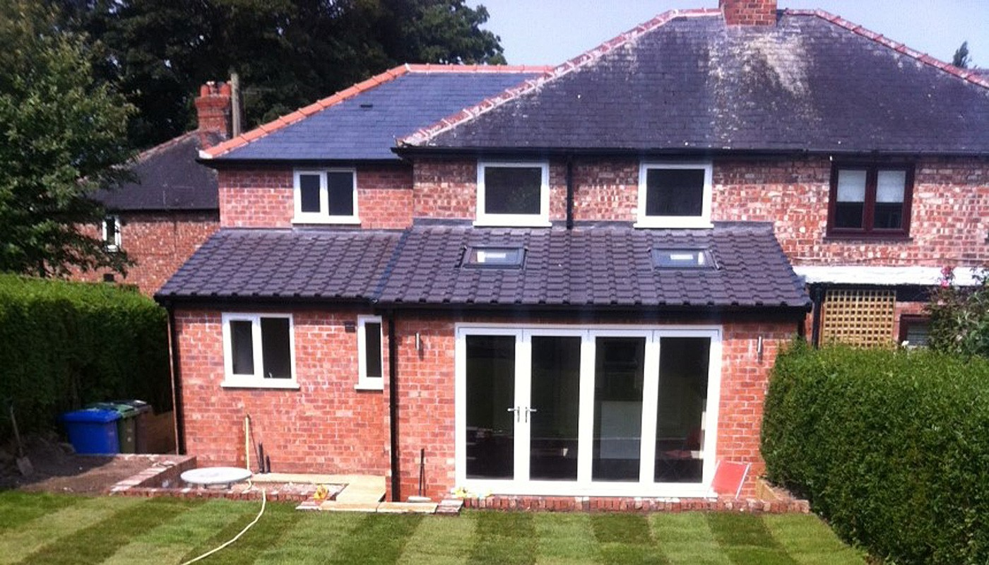 Extensions and new builds undertaken